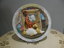 Bradford Exchange Bouncing'S What Tiggers Do Best Plate Winnie the Pooh Disney