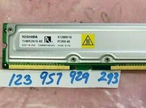 512MB 184p PC800-45 16d  184PIN  NONECC NON-ECC  RDRAM RIMM  DUAL RANK 32X8