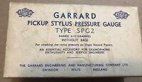 Vintage Garrard Pickup Stylus Pressure Gauge Type SPG2, with box