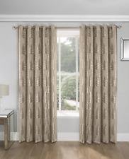 Langan Eyelet Room Darkening Thermal Curtains  229cmx183cm Natural