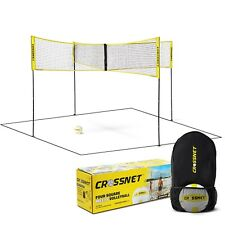 Brand New CROSSNET Four Square Meets Volleyball Net & Game Set Family Fun