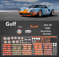 Gulf Waterslide Decals 1/64 Hot Wheels Kyosho Ignition TARMAC GT40 PORSCHE