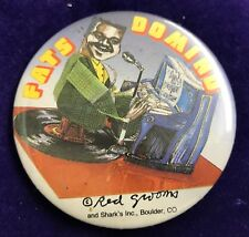 "Fats Domino Red Grooms Logo Button 3"" Badge Pinback Depicts Groom's Sculpture"