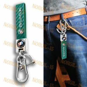 Green Chrome Leather Gift Keychain Lanyard Quick Release Key chain for All Buick