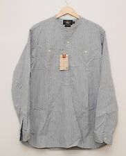 NEW Ralph Lauren RRL DOUBLE RL Men's Blue Striped Cotton Work Shirt XL