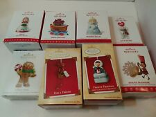 Lot of 8 Hallmark Christmas Ornaments . brand new