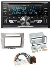 Toyota Corolla Verso 2-DIN Blende silber ISO Adapter Caliber RMD212 Autoradio
