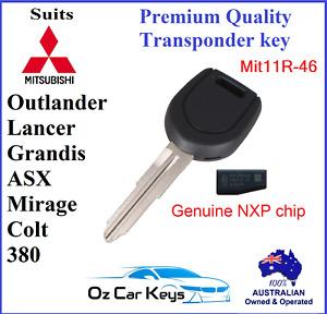 MIT11-46 MITSUBISHI TRANSPONDER KEY 380 ASX COLT GRANDIS LANCER MIRAGE OUTLANDER