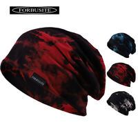 WATERCOLOUR STYLE SLOUCHY THIN BEANIE HAT FOR MENS SKULL CAP COTTON SOFT SUMMER