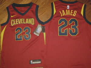 NEW boys jersey Nike medium Lebron James 23 Cleveland Cavaliers NBA red dri fit