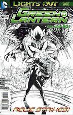 GREEN LANTERN #24 1:25 sketch variant DC NEW 52 2013 LANTERN BATTERY DESTROYED