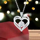 Heart 925 Silver Necklaces Pendants Fashion Women Cubic Zirconia Wedding Jewelry