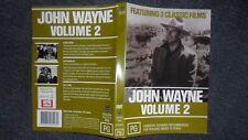 JOHN WAYNE - VOLUME 2 - 3 CLASSIC FILMS  Flying Tiger, Westwards Ho + Hell Town