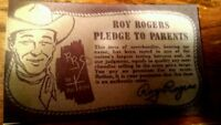 Roy Rogers Hartland for Western Rider set   Pledge To Parents Official with coa