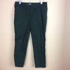 Old Navy Pixie Cropped pants Size 10 Polka Dot Army Olive Green