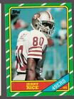 1986 TOPPS JERRY RICE #161 RC ROOKIE SAN FRANCISCO 49ERS EX TO EX-MINT 60/40 CTR