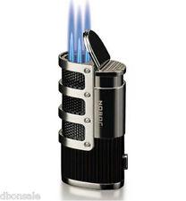 Hot Windproof Cigar Cigarette Lighter Triple Torch Flame Butane Gas Jet Torch