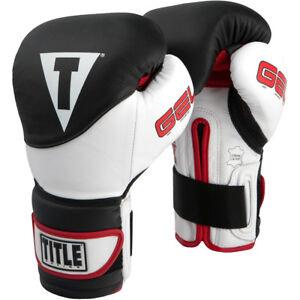 Title Boxing Gel Suspense Training Gloves - Black/White