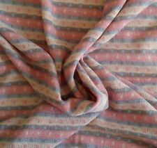 "Jonathan Logan Knit Sweater Fabric PINK BLUE WHITE SILVER Stripe 65""W x 3 Yards"