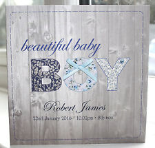Personalised Handmade New Baby BOY Card by Charlotte Elisabeth NB004