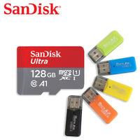 SanDisk 128GB Ultra MicroSDXC Speicherkarte bis zu 120MB/s mit Kartenleser X1