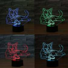 3D Led Lamp Base Luminous Night Light USB Touch 7 Colors Change Lamp Holder