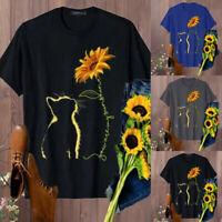 ZANZEA Women Casual Summer Short Sleeve Baggy Oversize Tops Tee T-Shirt Blouse