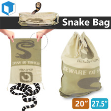 Large Size Safe Snake Bag w/ Drawstring Reptile Herp Catching Hunting Sack Pouch