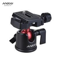 Andoer Mini Tripod Ball Head+QR Plate Tripod Head for DSLR Camera Camcorder E8S8