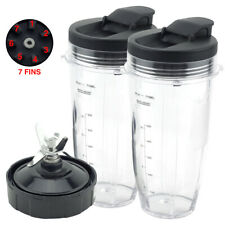 2 Pack 24 oz Cups with Spout Lids and Pro Extractor Blade for Ninja CT800 Series