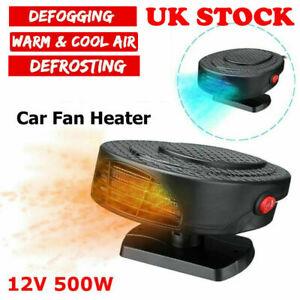 12V 500W Car Auto Heater Cooler Dryer Fan Defroster Demister Portable Heating