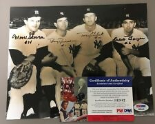 HOF MOOSE SKOWRON, Bobby Richardson, Clete Boyer and Tony Kubek 8x10 Signed PSA/