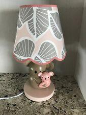 Lamb & Ivy Pink/Gray Koala Nursery Lamp EUC