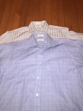 Lot of 2 Faconnable Men's Dress Shirts Size 15 1/2 X 33
