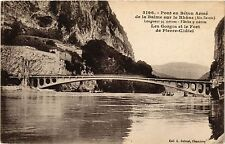 CPA    Pont en Béton Armé de la Balme sur le Rhone (Ain Savoie) ... (434536)
