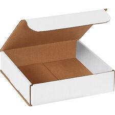 8 X 8 X 2 White Corrugated Mailingshipping Boxes Ect 32b 50case