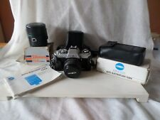 MINOLTA X-500 CAMERA MD 50MM F1.7 LENS + EXTRAS