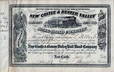New Castle & Beaver Valley Rail Road Company, Pennsylvania, 1896 (10 Shares)