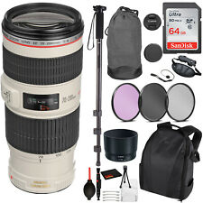 Canon EF 70-200mm f/4L IS II USM Lens (2309C002) Essential Bundle Kit for Canon