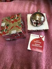Wallace 1985 Annual Silver Plated Sleigh Christmas Bell Ornament 15th Edition