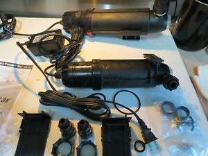 Lot Coralife Turbo-Twist 6x & 3x-18 & 9 Watt UV sterilizers, Very Good Used Cond