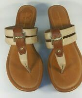 Tommy Hilfiger Womens Sandals Size 8 Medium Beige/Brown Wedge New without box