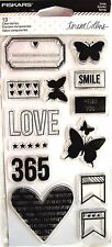 Smile Fiskars Clear Acrylic Stamp Set by Teresa Collins NEW! 106030-1001