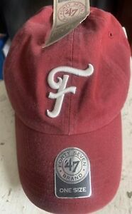 Frisco Roughriders '47 Brand One Size Adjustable Cap Hat Deep Red MiLB