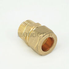 "1/2"" BSP Male Brass Fit 15mm OD Tube Compression Union Fitting"