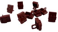 Lego 10 Stück Rucksack braun (reddish brown) für Minifiguren Rucksäcke Neu 2524