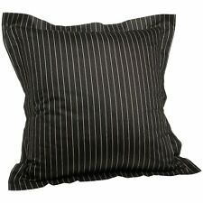 "Tommy Hilfiger York Brown Stripe Decorative Throw Pillow 18"" Square"