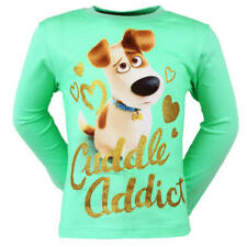 Secret Live Of Pets Long Sleeve Green Mint T-shirt for children with Max Cotton