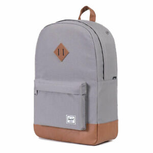 Herschel Supply Co. Unisex Heritage 600D Poly Backpack Bag Gray Accessories T...
