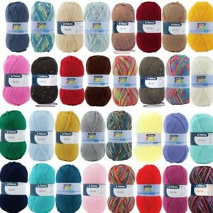 Patons Fab DK Yarn 100g Double Knitting 8 Ply Machine Washable 100% Acrylic Wool